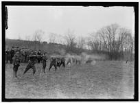 Thumbnail image of Photograph showing US Army machine gun tests. A test of the BAR prior to its first deployment during the Meuse-Argonne offensive, 1918