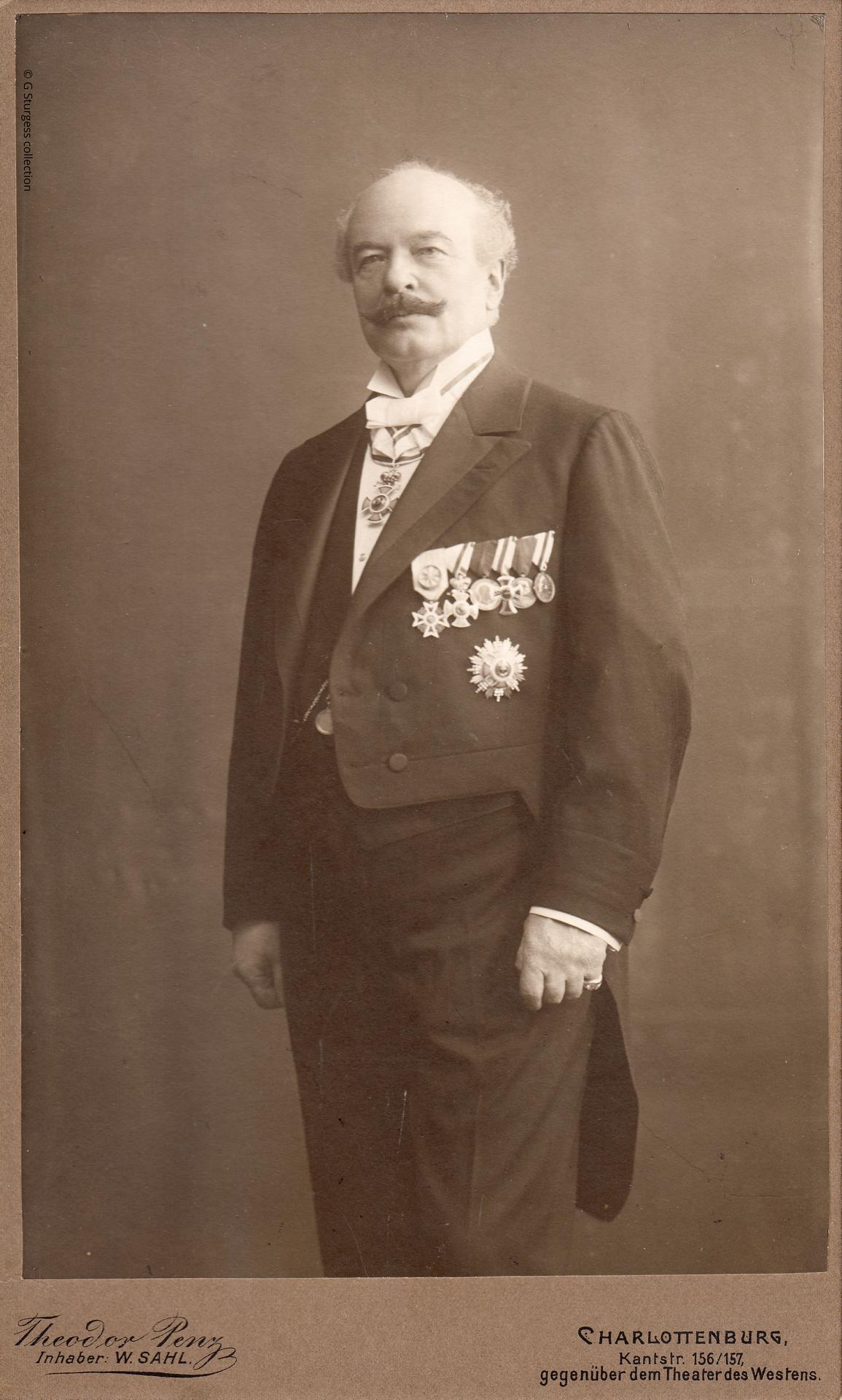 Photograph of Georg Luger taken at his 40th wedding anniversary, February, 1913