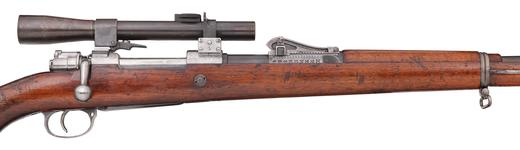 Thumbnail image of Mauser Gewehr 98 rifle and bayonet - Arms of the First World War