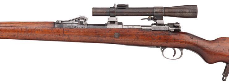 Centrefire bolt-action magazine military sniper rifle