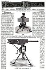 Thumbnail image of Journal article taken from the Scientific American covering the Maxim machine gun, New York, United States, December 13th, 1884