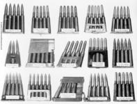 Thumbnail image of Photograph showing an assortment of ammunition types