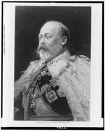 Thumbnail image of Engraving of King Edward VII, by Lea Brothers & Company, 1902. Library of Congress LC-USZ62-103899.
