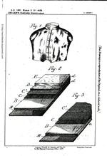 Thumbnail image of Patent drawing for Casimir Zeglen's silk bullet proof vest, patent No.5536, London, 1897, printed by Darling and Son Ld, for her Majesty's Stationary Office. (http://worldwide.espacenet.com)