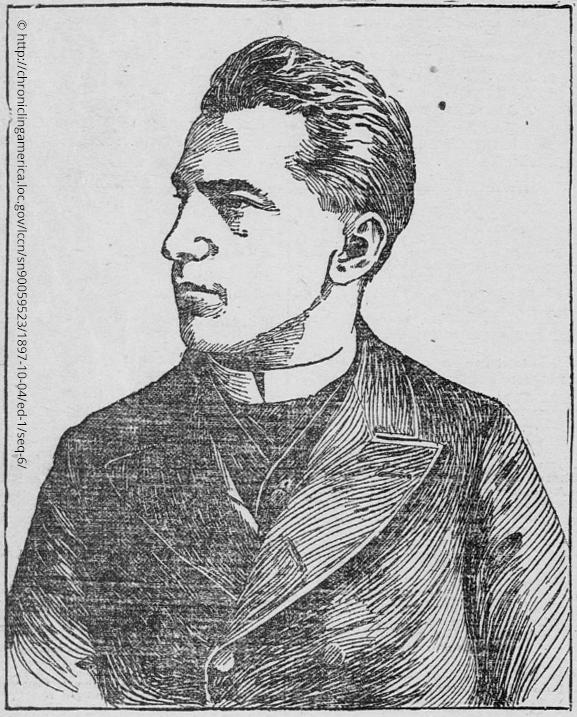 Portrait illustration of Casimir Zeglen, October 6th, 1897, taken from the St Paul Globe newspaper,  St Paul. Minnesota, United States. Library of Congress (Saint Paul Globe October 6th 1897) http://chroniclingamerica.loc.gov/lccn/sn90059523/1897-10-04/ed-1/seq-6/