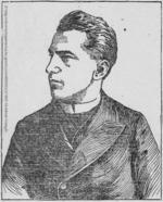 Thumbnail image of Portrait illustration of Casimir Zeglen, October 6th, 1897, taken from the St Paul Globe newspaper,  St Paul. Minnesota, United States. Library of Congress (Saint Paul Globe October 6th 1897) http://chroniclingamerica.loc.gov/lccn/sn90059523/1897-10-04/ed-1/seq-6/
