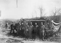 Thumbnail image of Photograph of Schneidertank and crew, Maizy, Aisne, France.