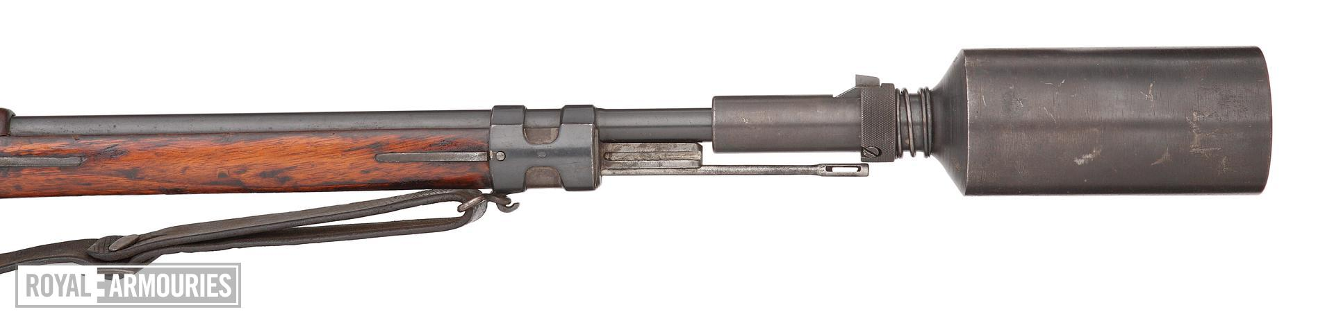 Mauser Gewehr 98 rifle with grenade cup discharger.