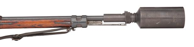 Thumbnail image of Mauser Gewehr 98 rifle with grenade cup discharger.