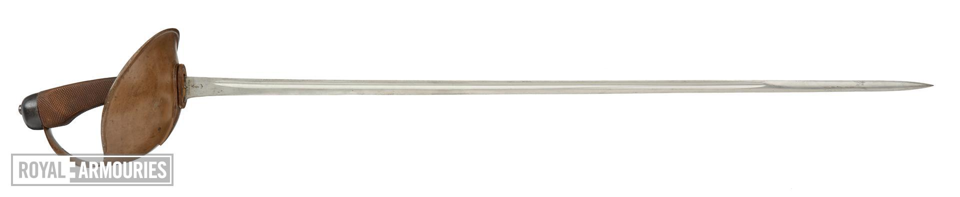 Pattern 1908 Mark 1 cavalry sword, final cavalry sword. British, about 1908. IX.2728