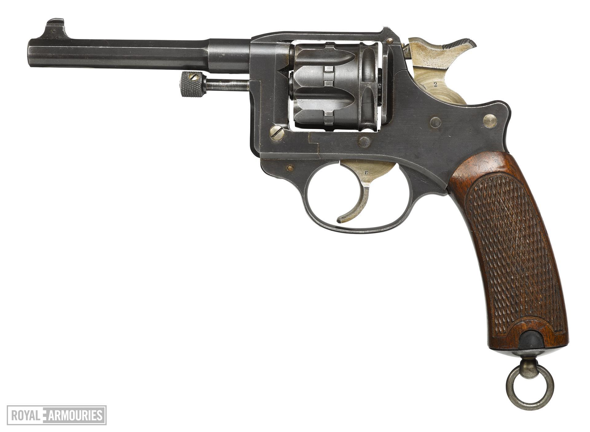 Six shot military revolver (Model 1892 revolver). French, dated 1914