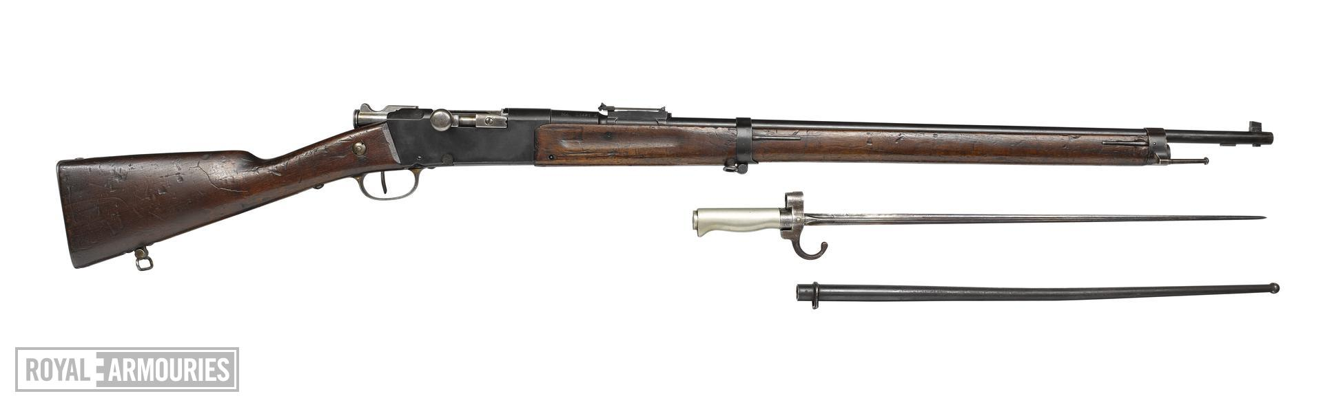 Modèle 1886/93 'Lebel' rifle and bayonet - Arms of the First World War