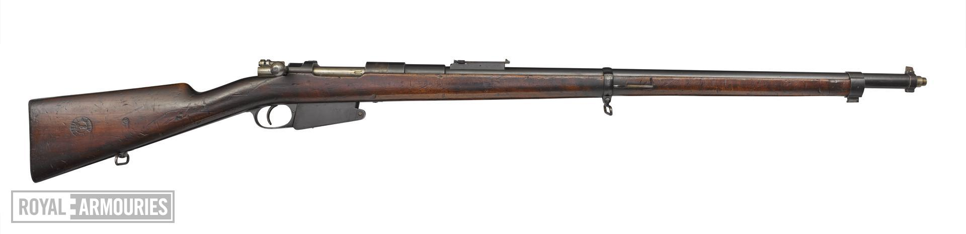 Mauser Model  1889 centrefire bolt action rifle, Liege, Belgium, about 1889 , by Fabrique Nationale