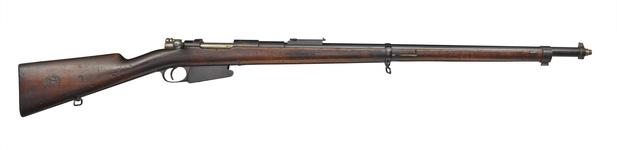 Thumbnail image of Mauser Model  1889 centrefire bolt action rifle, Liege, Belgium, about 1889 , by Fabrique Nationale