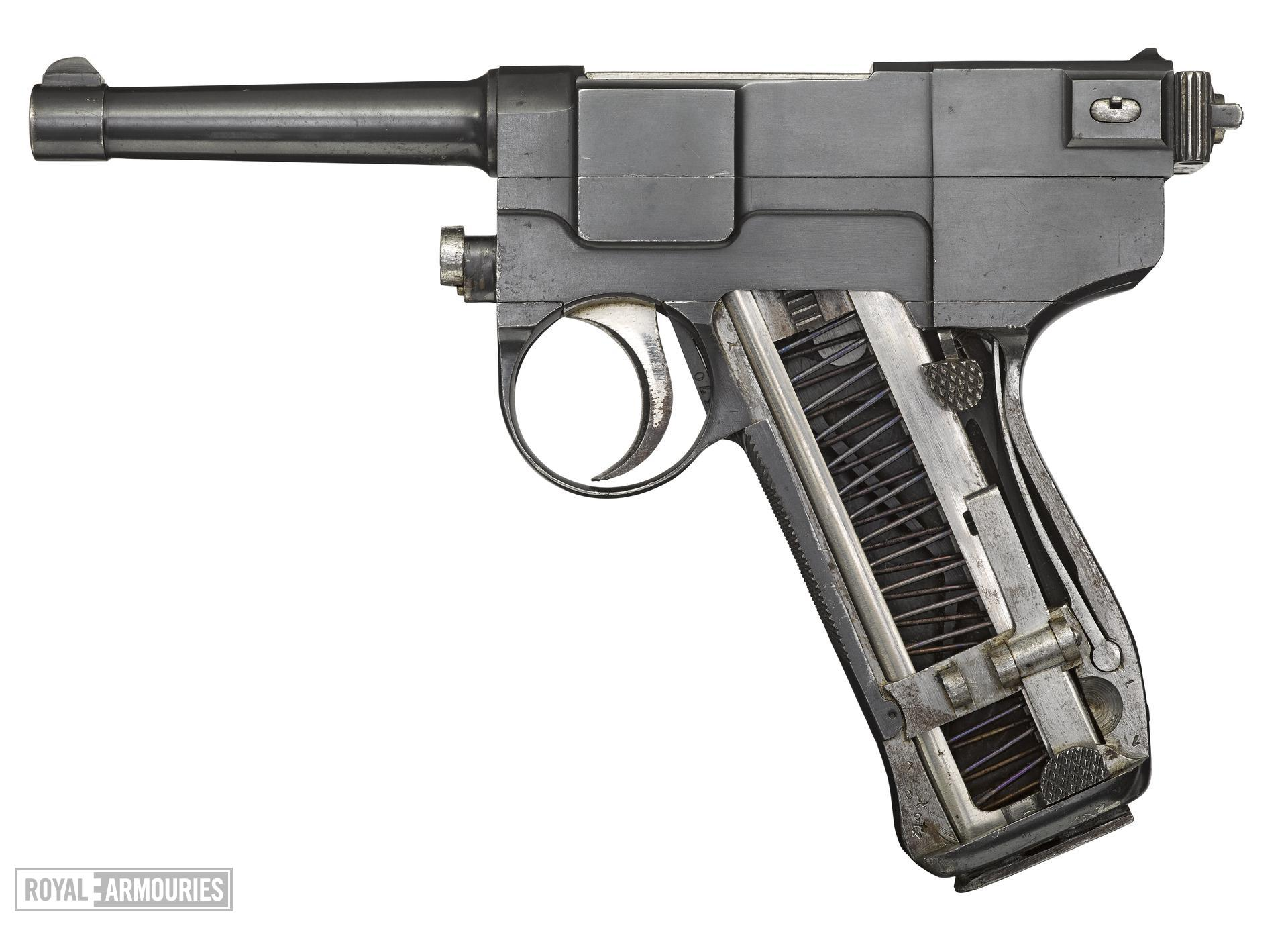 Glisenti Model 1910 centrefire self loading pistol , Italy, 1910-1915