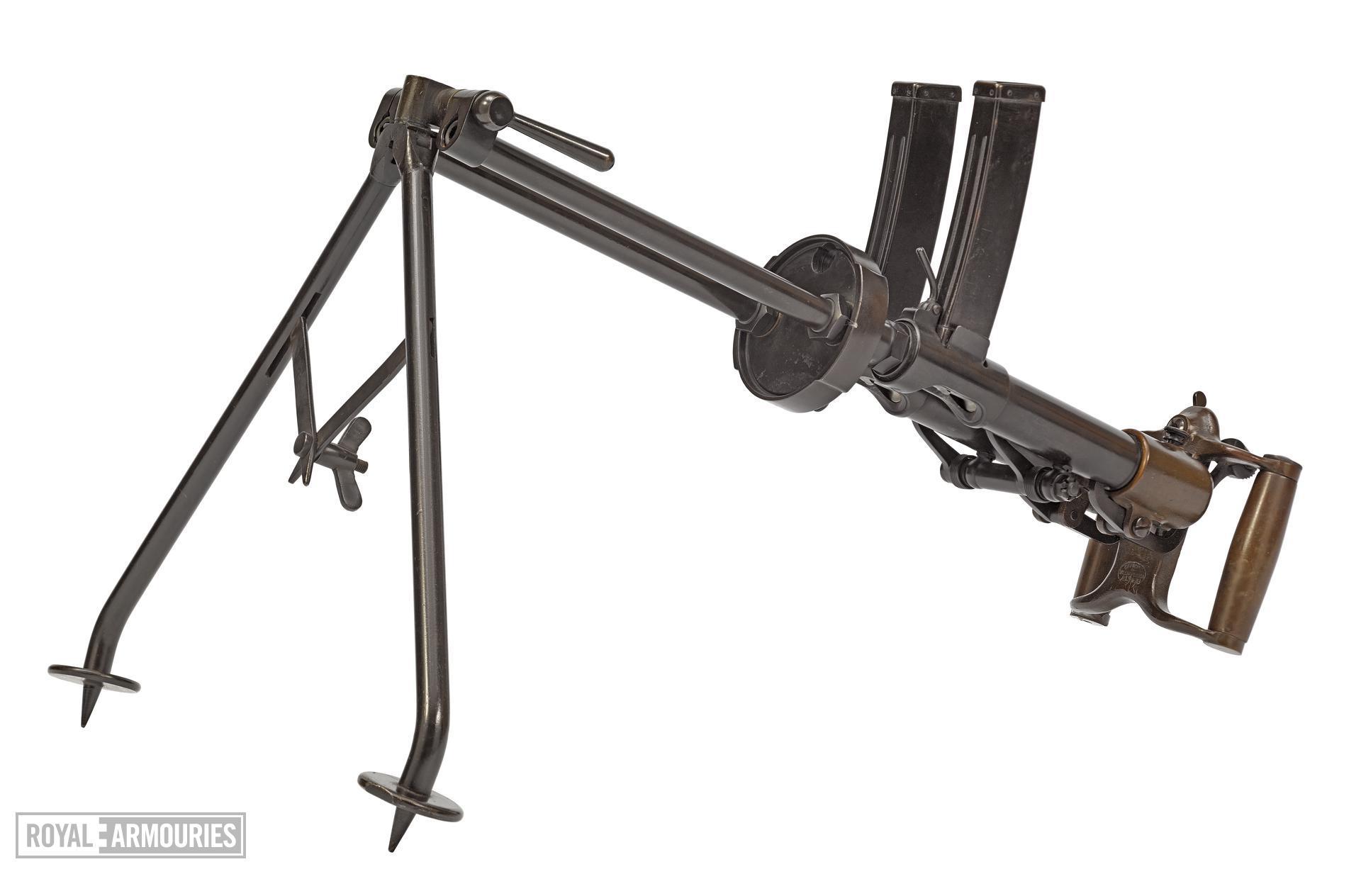Twin Villar Perosa centrefire automatic sub machine gun