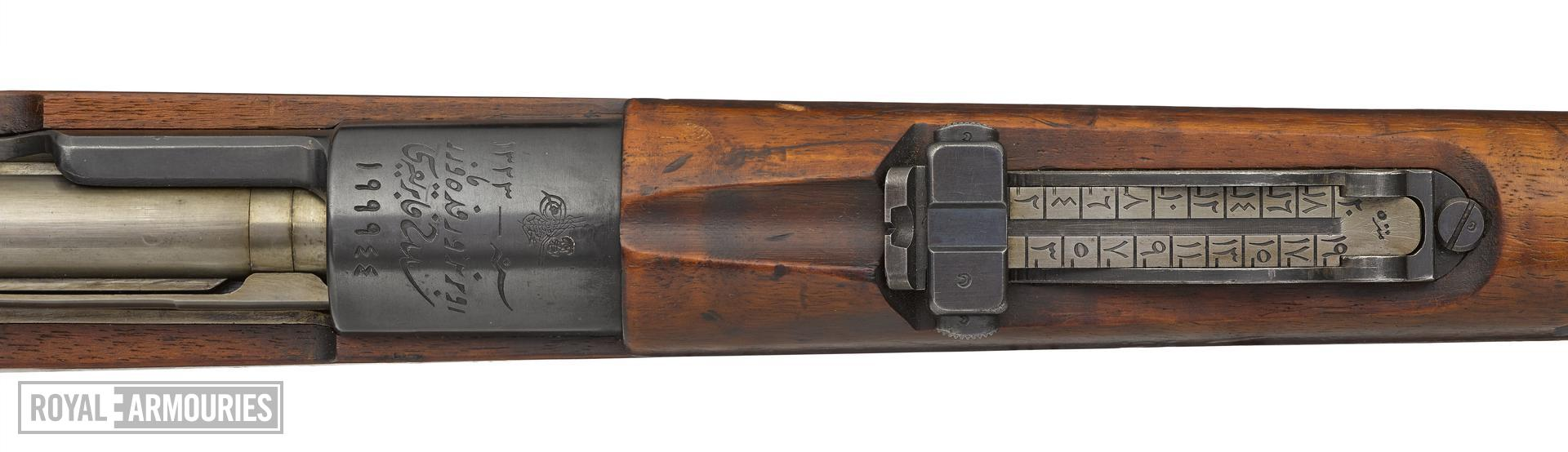 Mauser Model 1903 centrefire bolt action rifle, Turkey, about 1903
