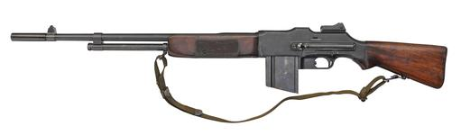Thumbnail image of Browning Model 1918 centrefire automatic light machine gun (Browning Automatic Rifle / BAR), American, 1918