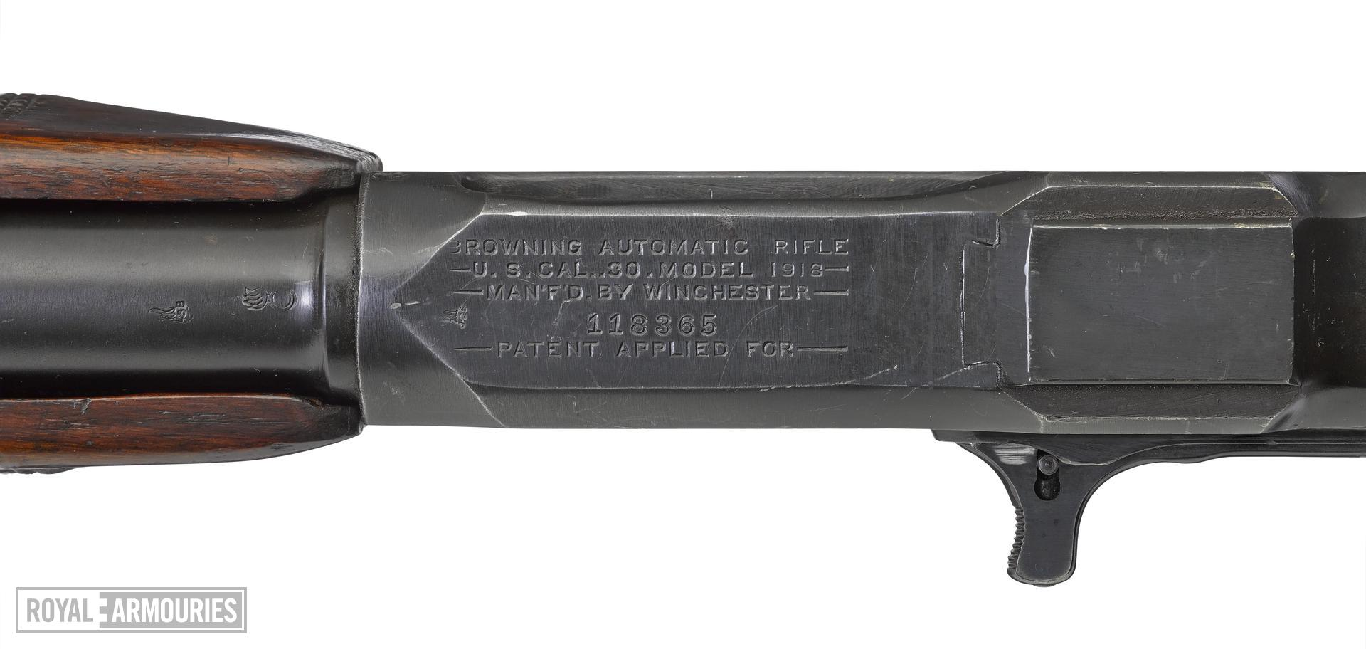 Browning Model 1918 centrefire automatic light machine gun (Browning Automatic Rifle / BAR), American, 1918