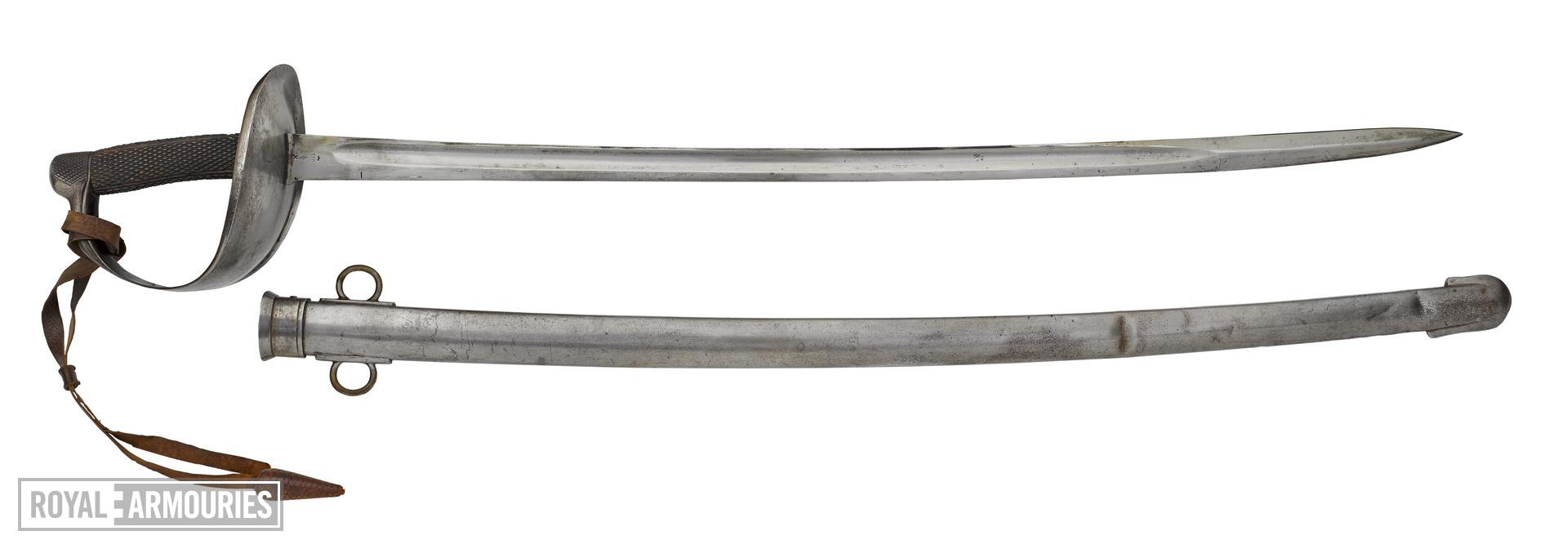 Infantry officer's sword with steel scabbard, Germany, 1914-1918