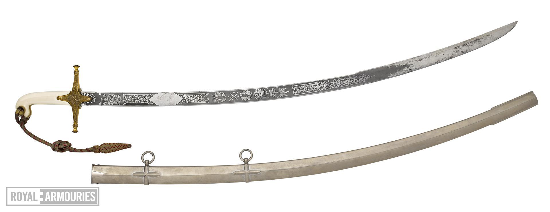 Lord Kitchener's sword and scabbard - Kitchener's Pattern 1831 General Officer's Sword