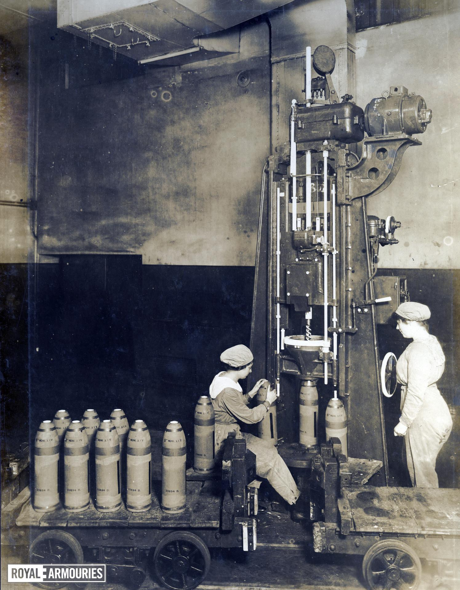 Photograph album entitled, 'National Shell Filling Factory, Chilwell, Notts, 1915-1918'