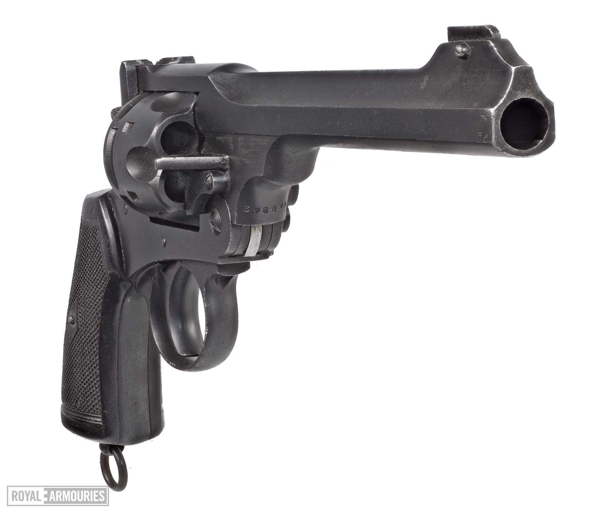 Webley Mk VI centrefire six shot revolver. British.