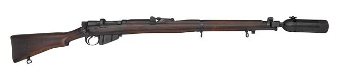 Thumbnail image of Short Magazine Lee Enfield (SMLE) Mk. III * centrefire bolt action rifle with 2 inch grenade cup, British, 1917.