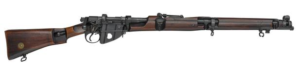 Thumbnail image of Skeletonised Short Magazine Lee Enfield Mk.III centrefire bolt action rifle, Britain, about 1908.