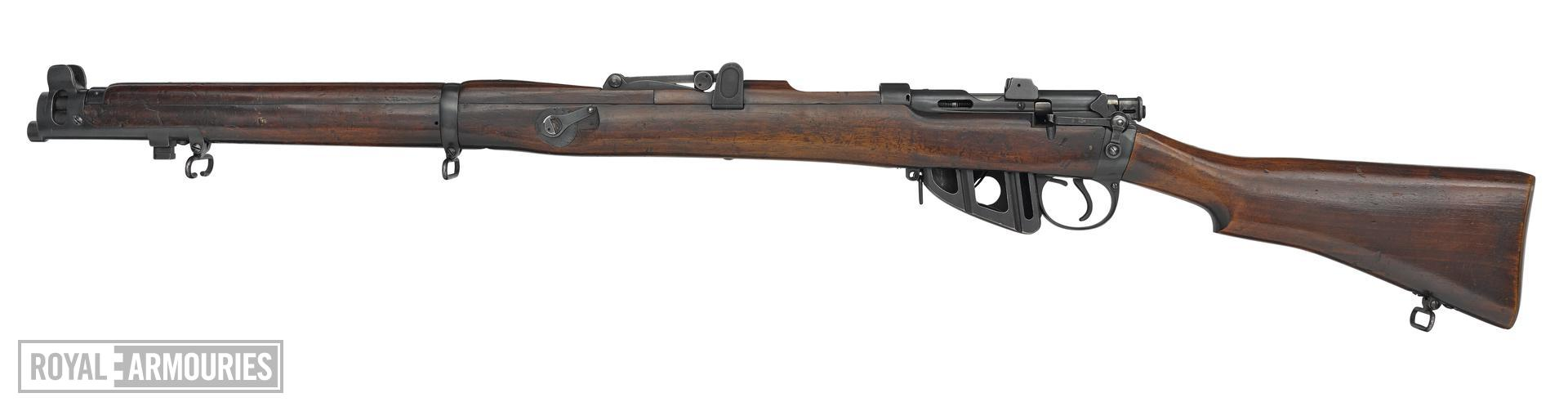 Skeletonised Short Magazine Lee Enfield Mk.III centrefire bolt action rifle, Britain, about 1908.