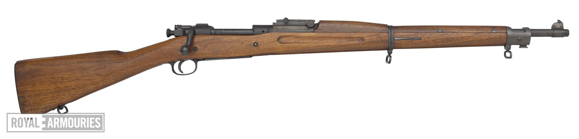 Springfield Model 1903 Mk.I centrefire bolt action rifle, United States, about 1903. For Pedersen device, by Springfield Armoury.