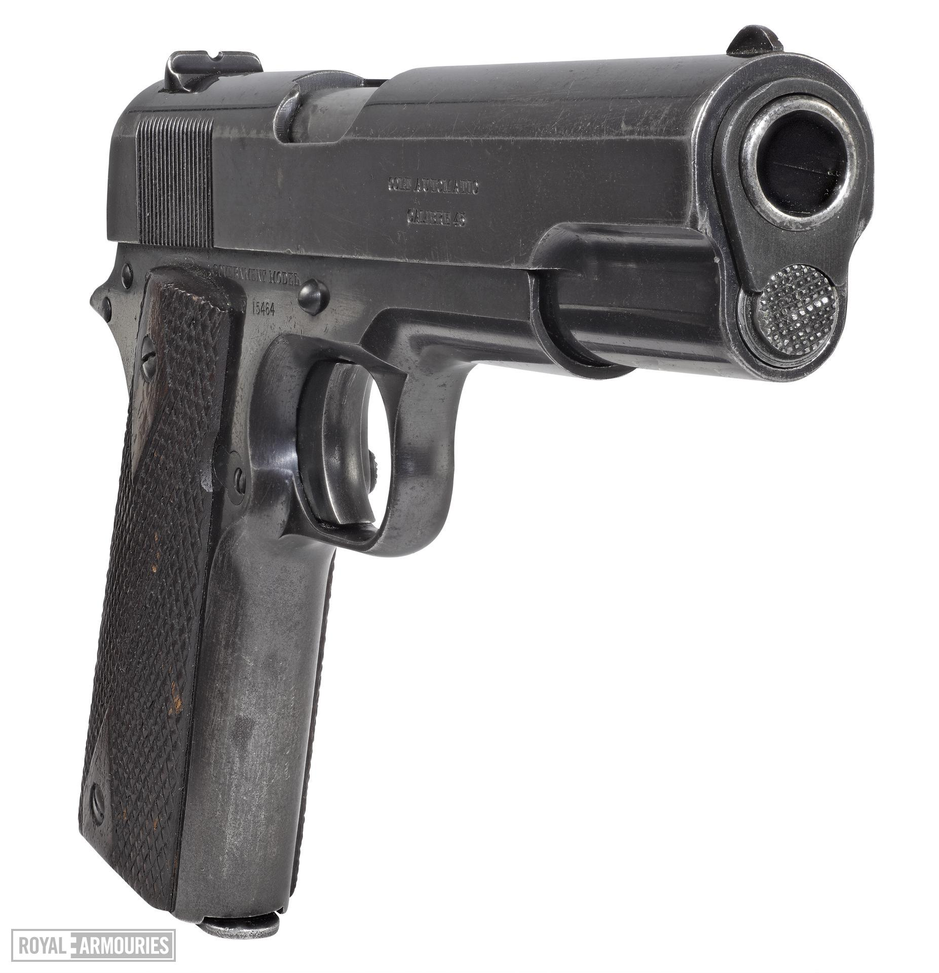 Colt Model 1911 Government model centrefire self loading pistol, American, 1914, named to A.B.Jarrett.