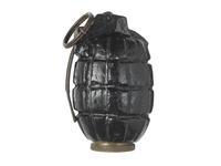 Thumbnail image of Hand grenade (No. 5 Mk. I Mills bomb). British, 1915.
