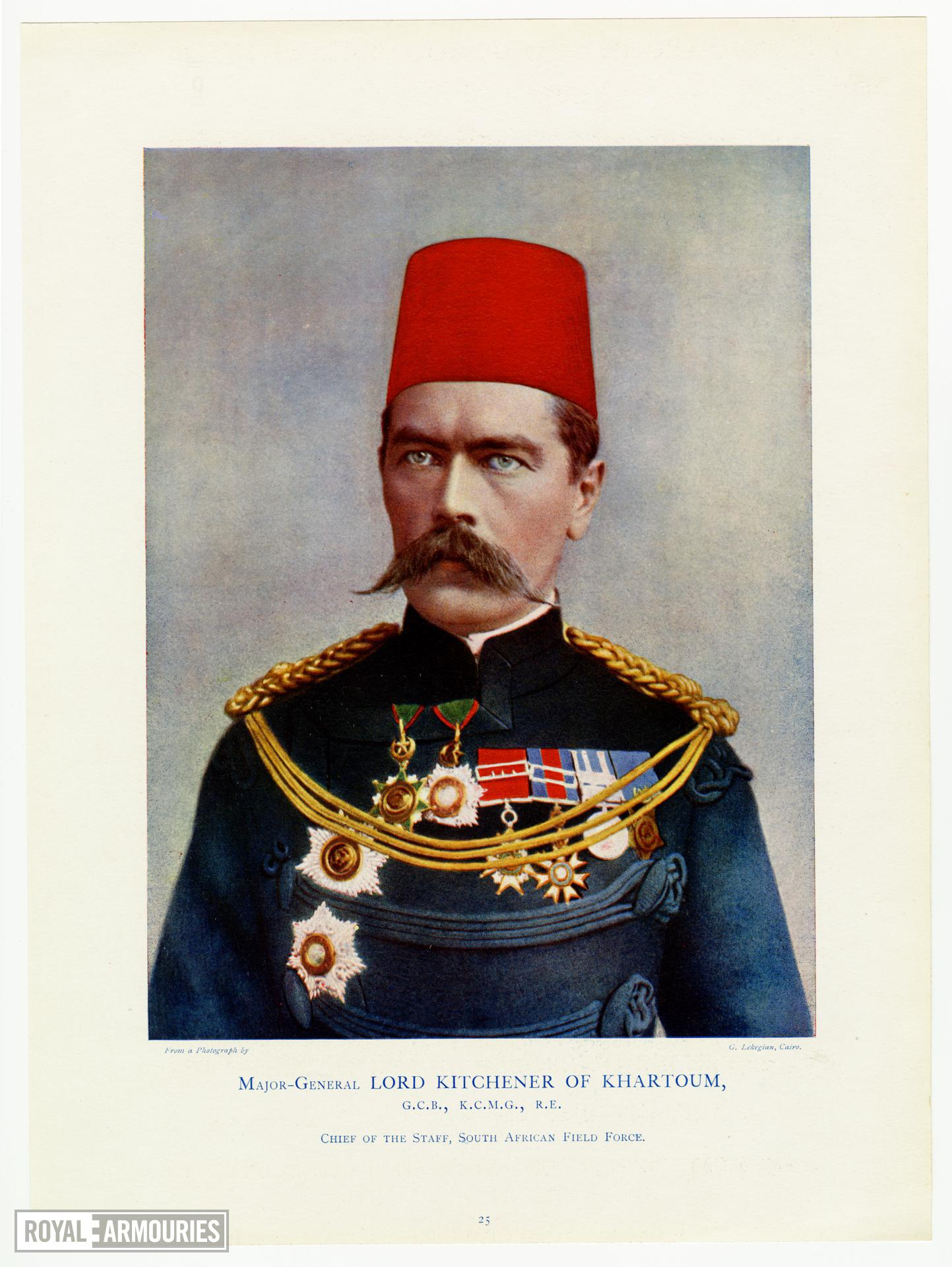 Print of Major General Lord Kitchener of Khartoum, G.C.B, K.C.M.G., R.E., Chief of the Staff, South African Field Force.