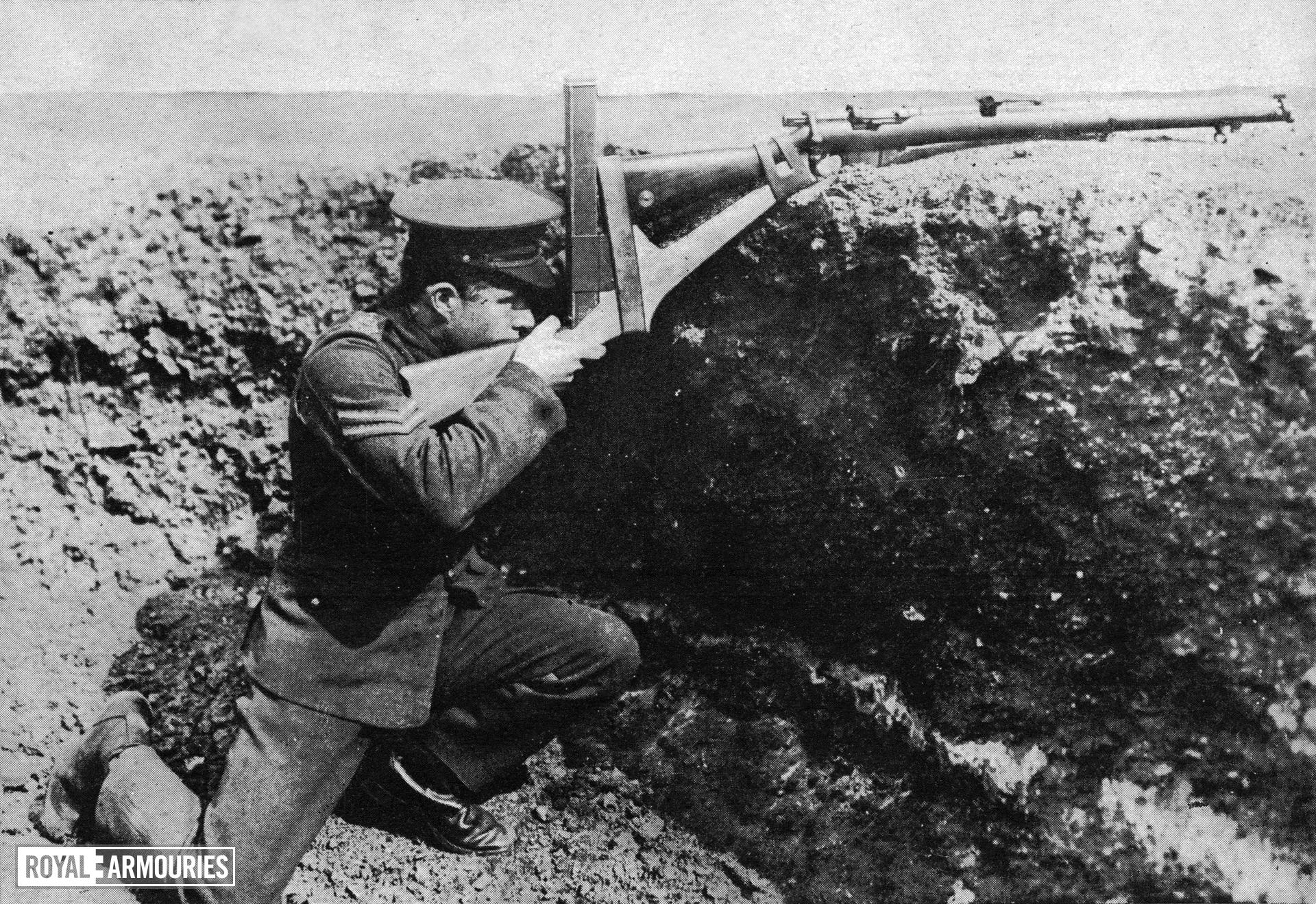 The 'Walker' periscope attachment, from an August 18th, 1915 issue of the 'Illustrated War News'.