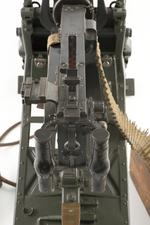 Thumbnail image of Maxim MG 08 centrefire automatic belt-fed machine gun (XII.11212) with sled type mount (PR.74), Germany, early 20th century.