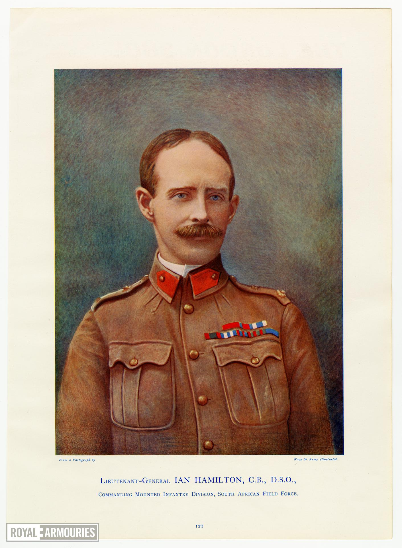 Lieutenant-General Ian Hamilton, C.B., D.S.O., Commanding Mounted Infantry Division, South African Field Force. Navy and Army Ilustrated.