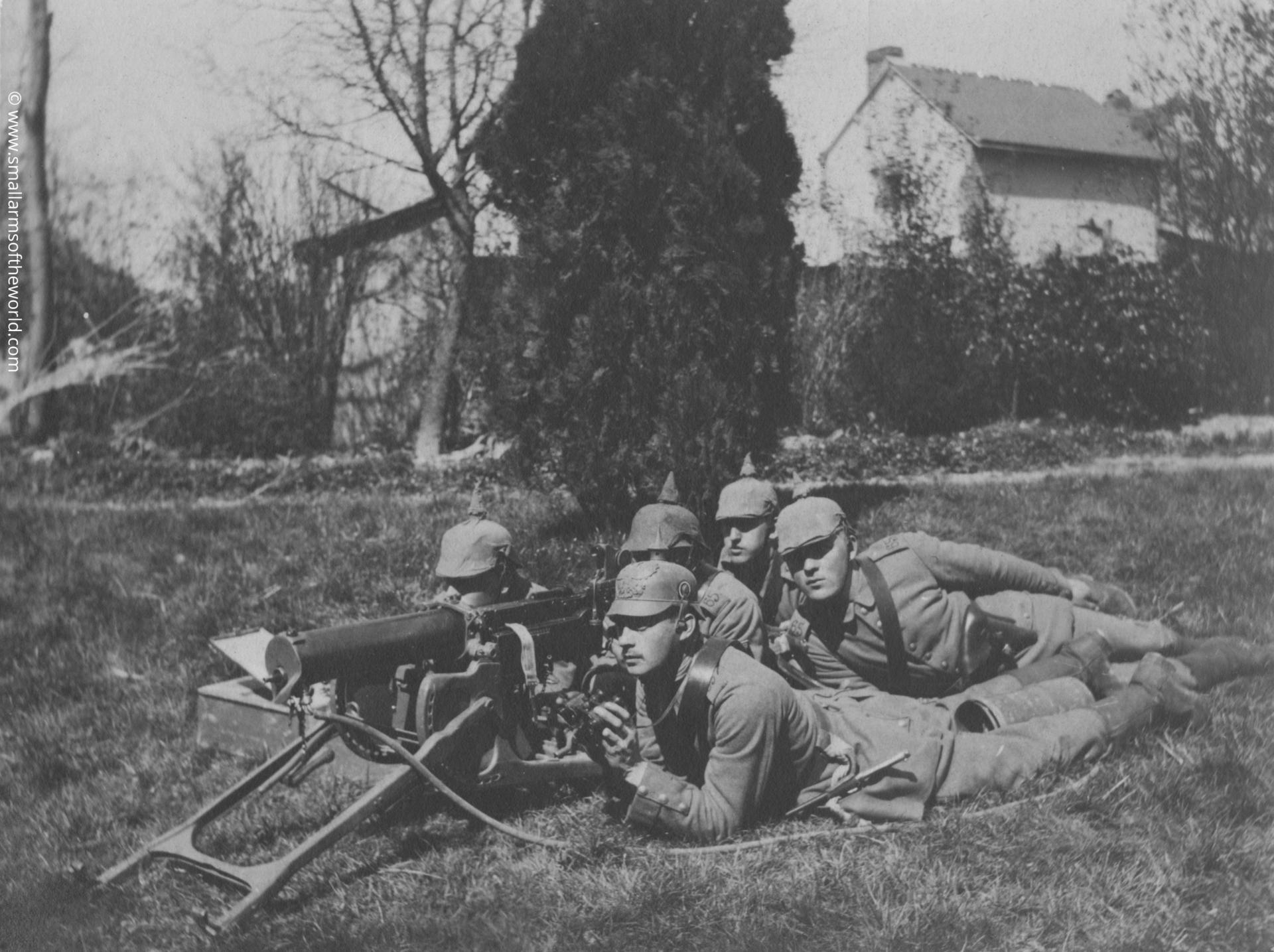 German machine gun crew with their Maxim MG08 machine guns