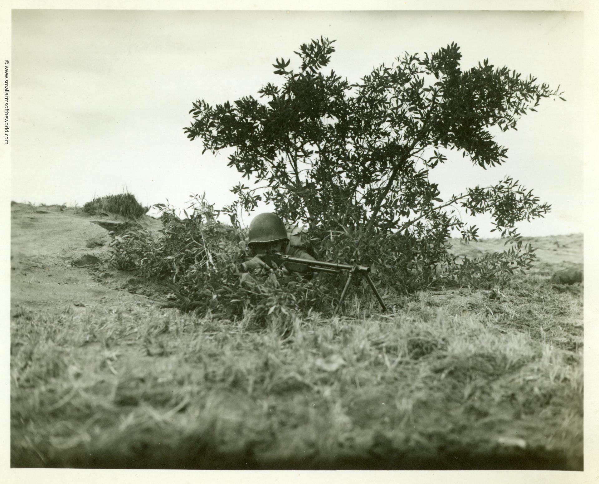 A position manned with the later M1918A2 BAR