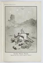 Thumbnail image of Plate entitled, 'Another Maxim Maxim. Machine guns form a valuable support for infantry,' page 41, taken from the title, The Bystander's Fragments from France, tenth edition by Captain Bruce Bairnsfather.
