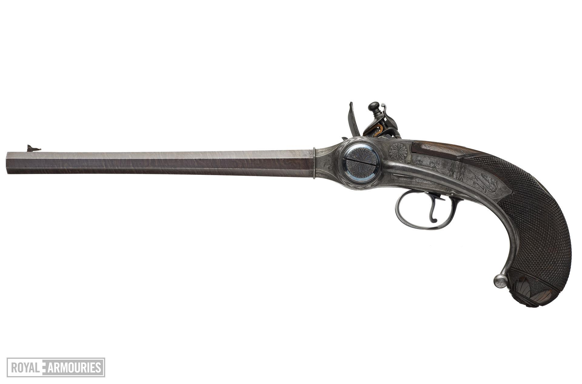 Flintlock breech-loading repeating pistol - Lorenzoni pistol
