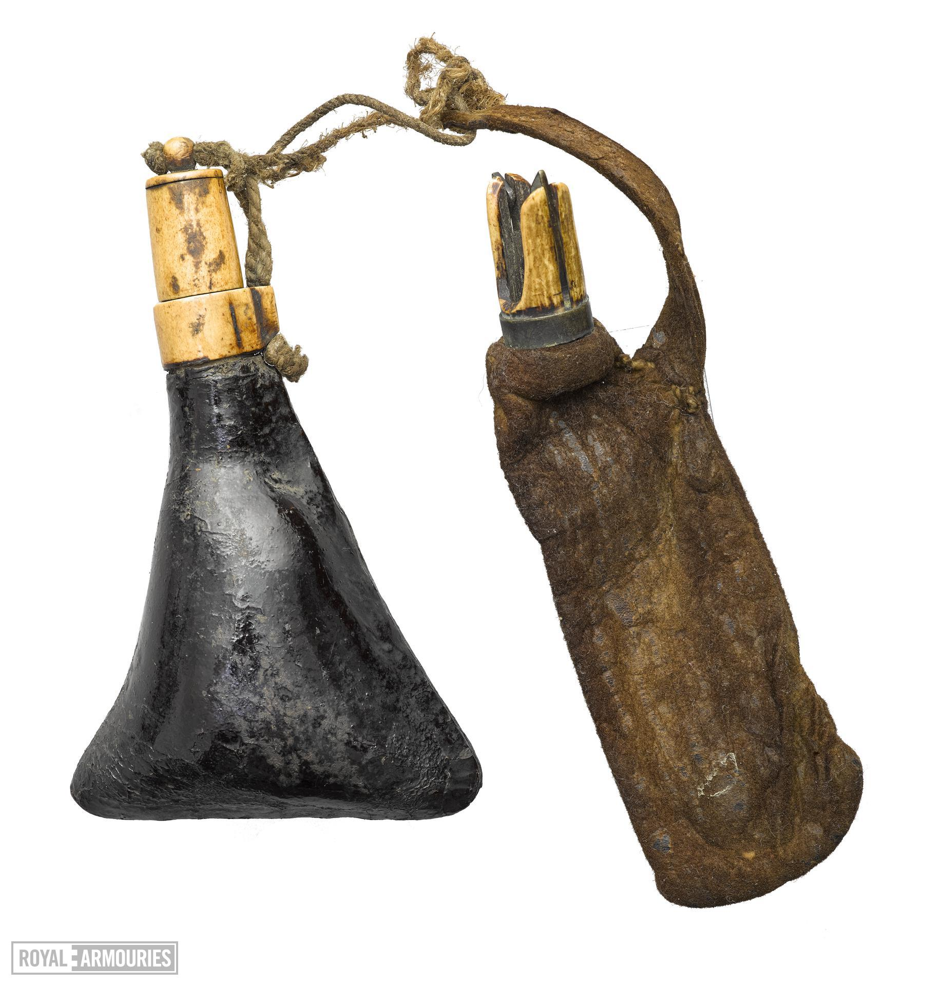Powder flask and bullet pouch