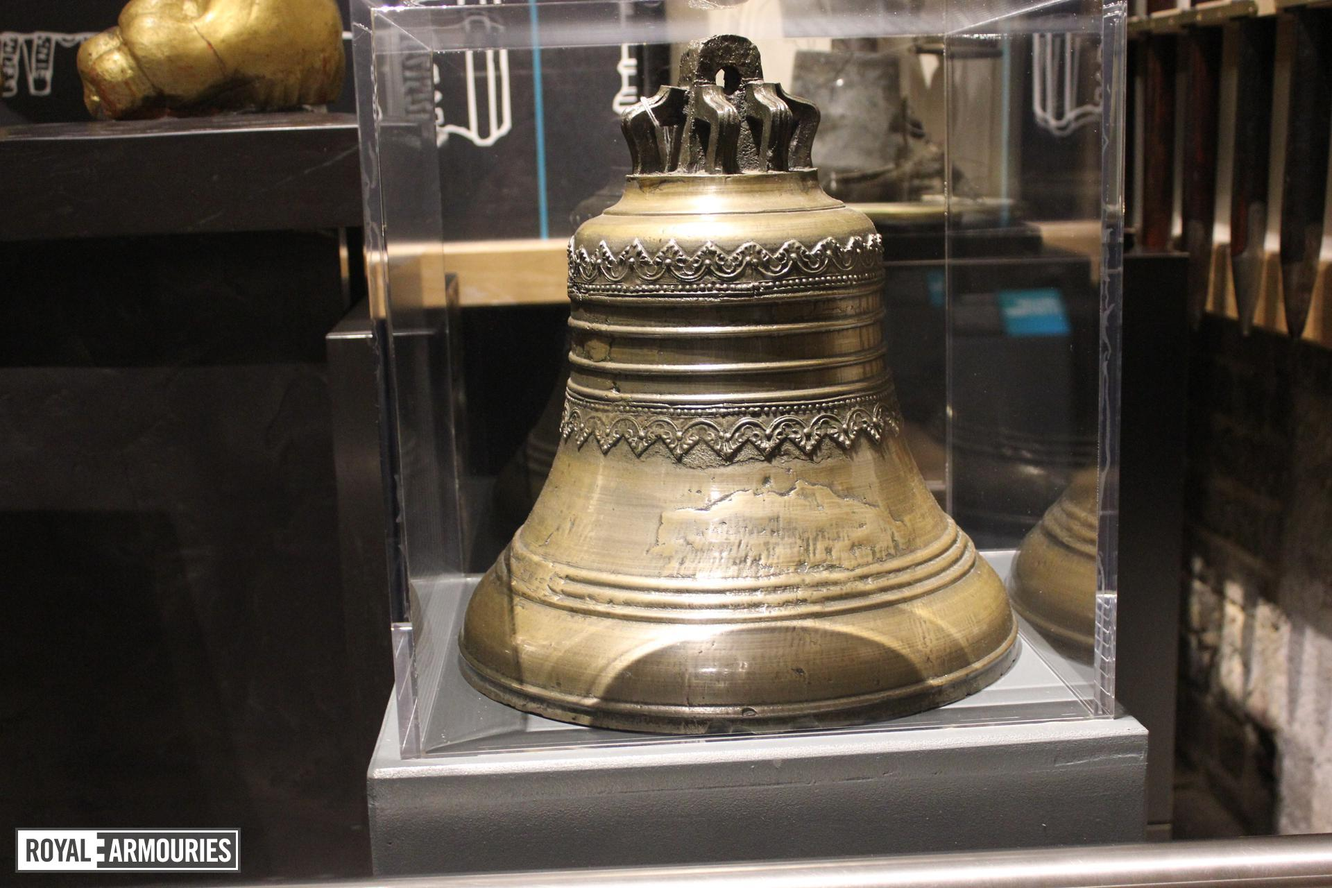 Bomarsund Fortress Bell, 19th century, Russian. From the island of Aland in the Baltic, assaulted by French and British forces in August 1854.