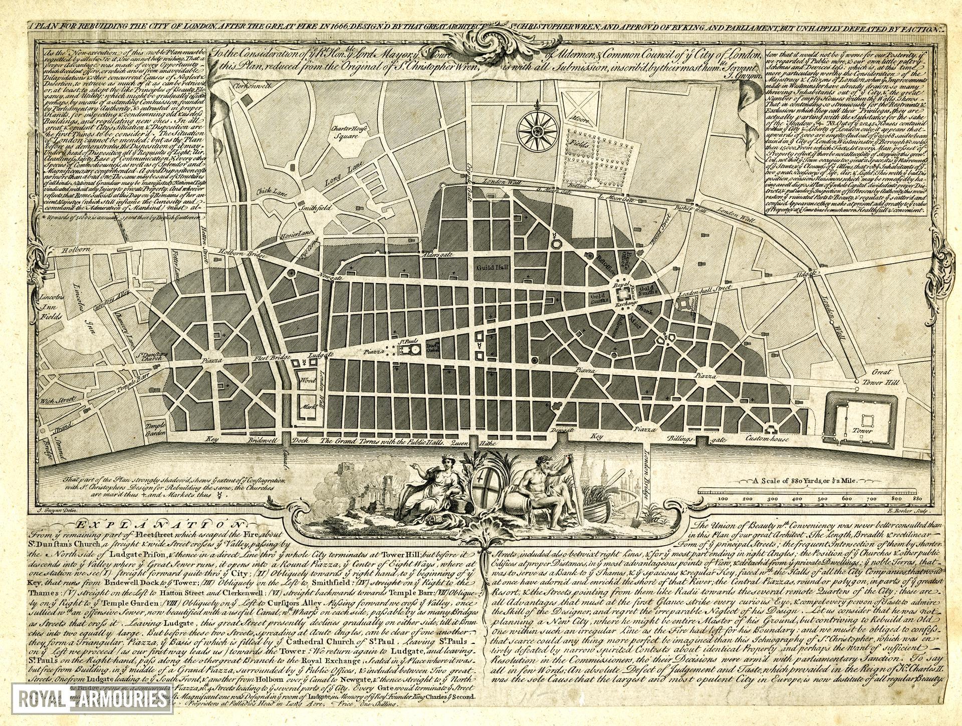 Plan of City of London