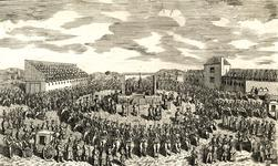 Thumbnail image of Print depicting the execution of Earl Ferrers at Tyburn, 1760.