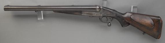 Thumbnail image of Centrefire breech-loading double-barrelled rifle By Holland and Holland Formerly belonging to Ewart Grogan