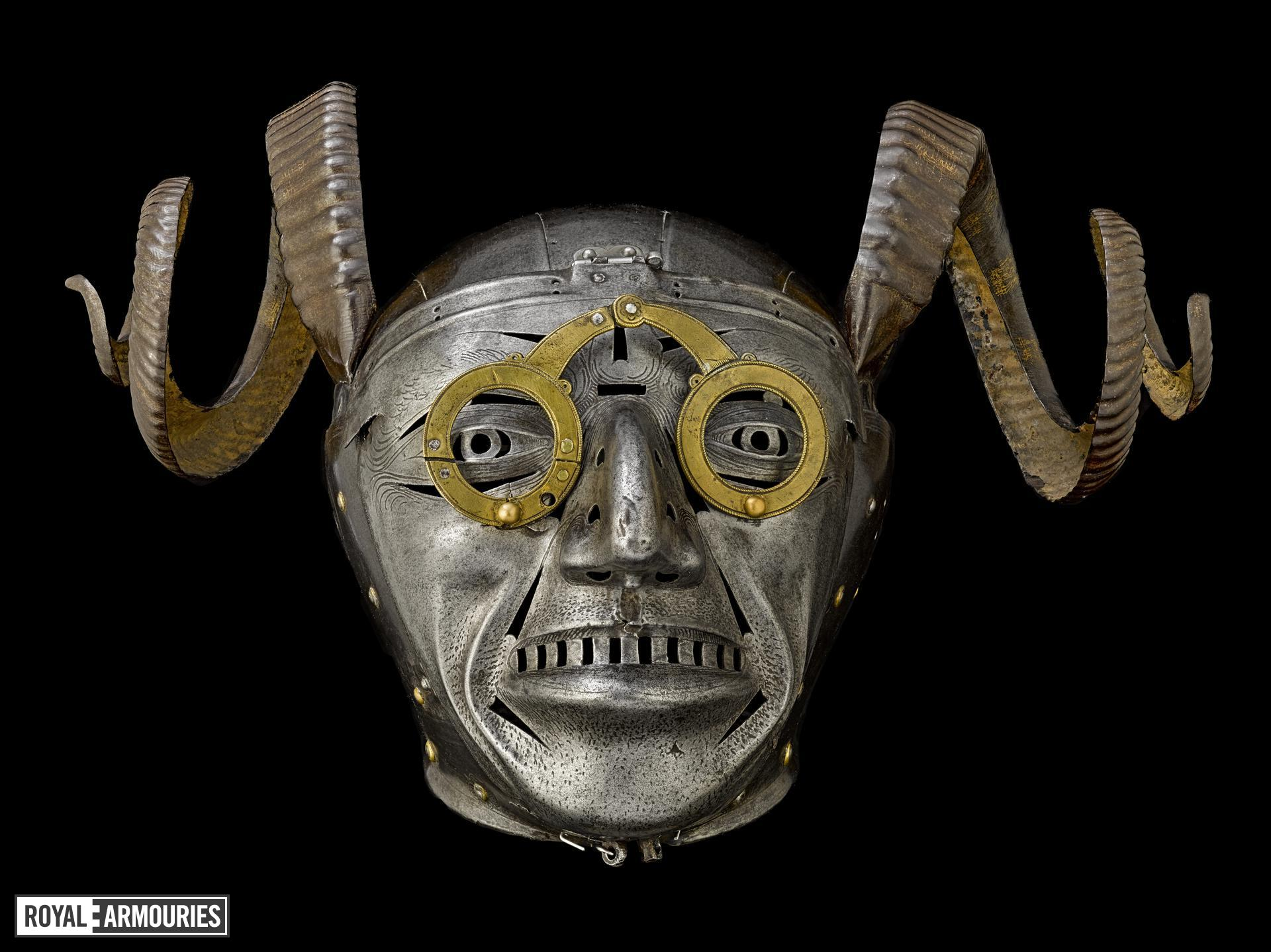 X-Ray of Armet of King Henry VIII (known as the Horned Helmet), Austrian, Innsbruck, 1511-14 (IV.22)