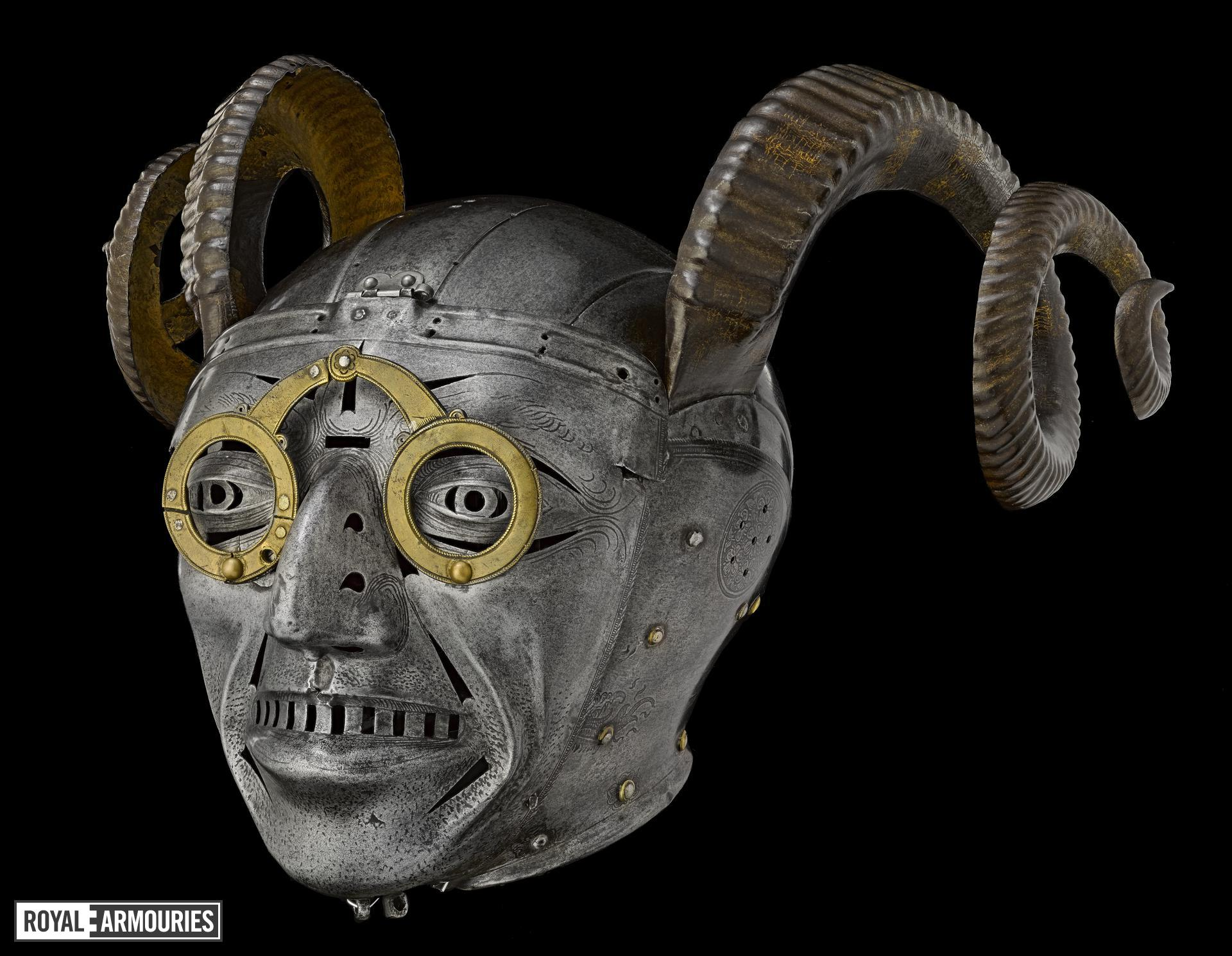 Armet - The Horned Helmet (1512) - Royal Armouries collections