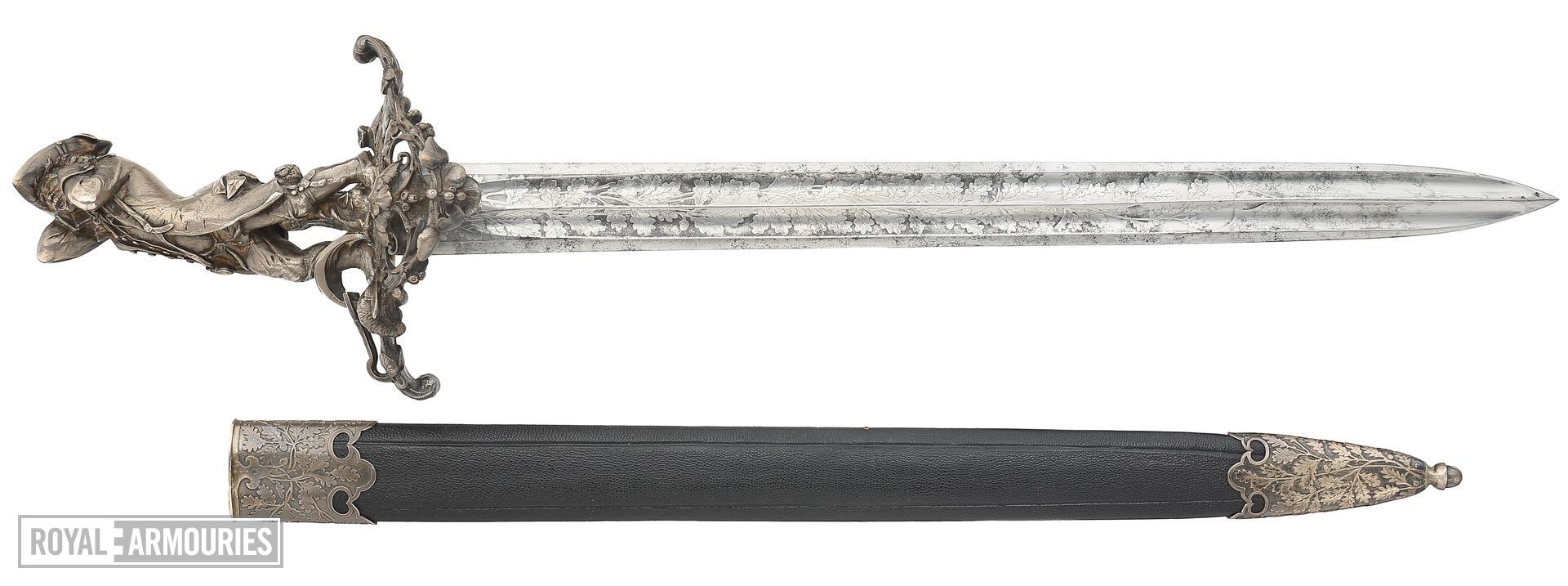 Hanger and scabbard, with hilt by Jules Wipse, marked Froment-Meurice, about 1850, France (IX.5407)