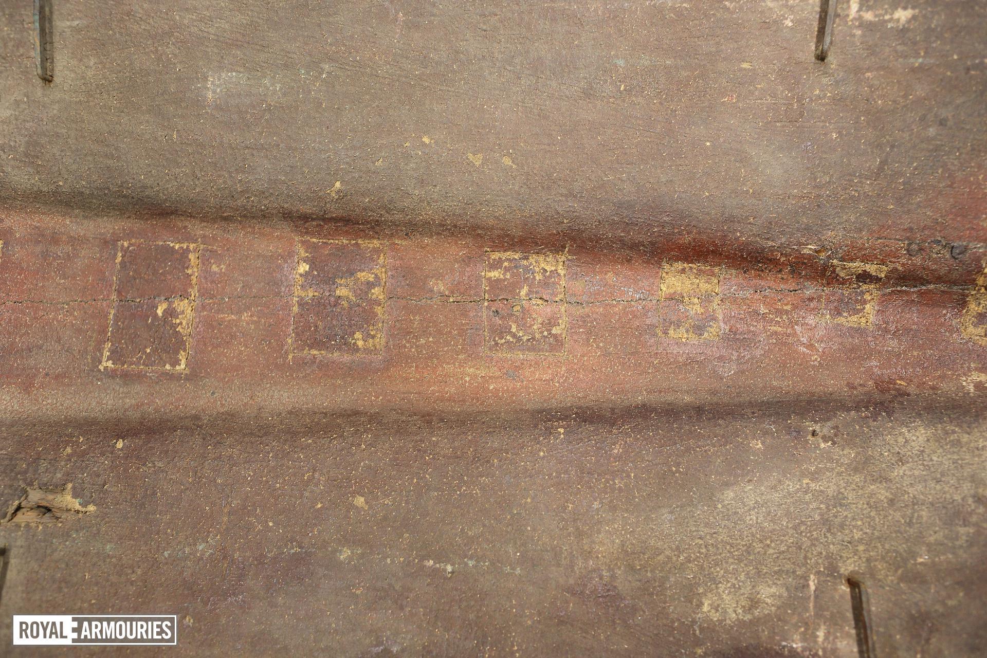 Rear of Pavise bearing the arms of Zwickau, Bohemian, mid 15th century (V.1)